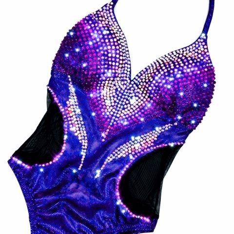 royal purple  fit model suit