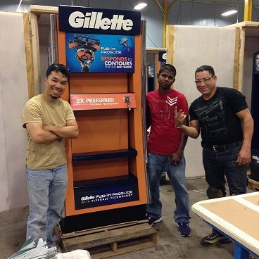 Gillette Stand Alone Display