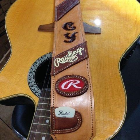 guitar straps , custom straps , custom leather work