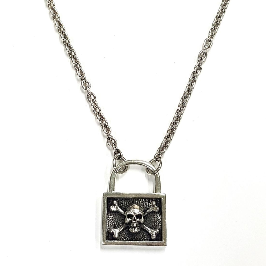 Skull & Cross Bones Padlock Chain  available at Kazbah online and our Leicester City Centre Shop