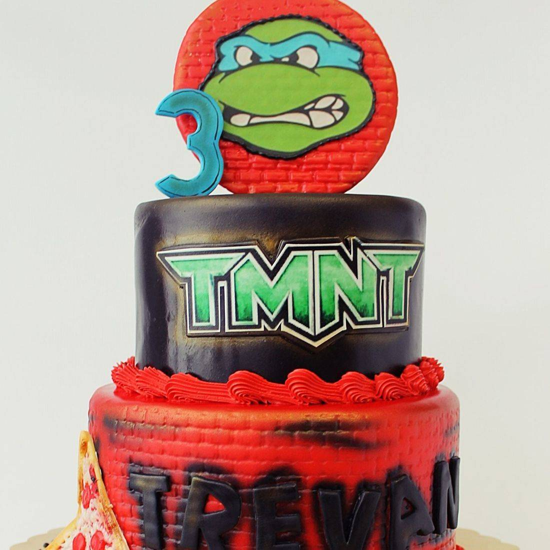 Custom TMNT Pizza Cake  Milwaukee