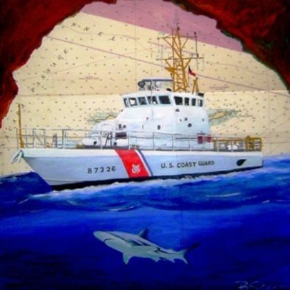 coast guard painting on chart