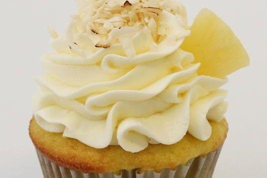 Caribbean Breeze Pineapple Coconut cupcakes