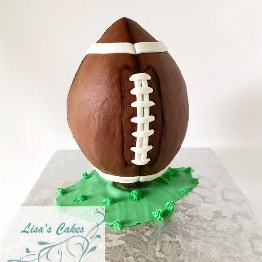 Standing Football Cake buttercream