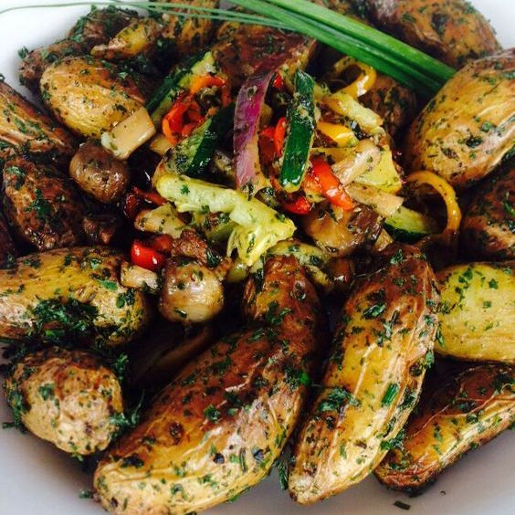These are Arista's lemon thyme potatoes