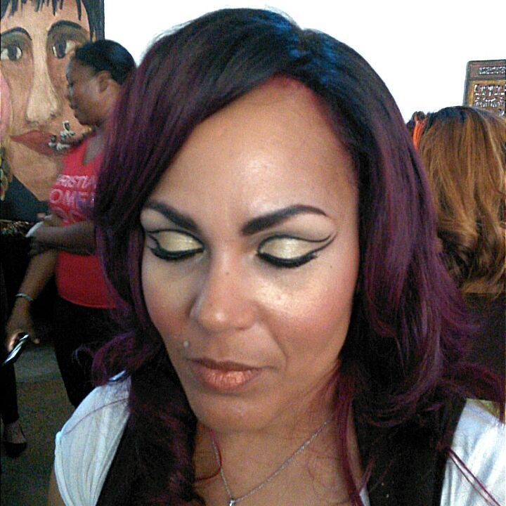 black and gold extravagant makeup- makeup artist in Dallas, TX