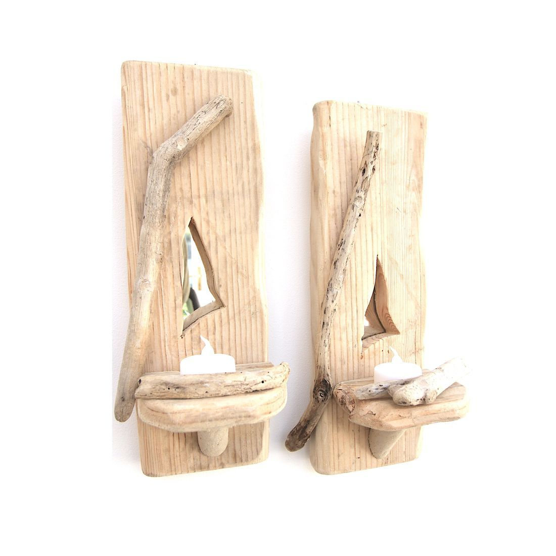 Driftwood Sconce pair 9