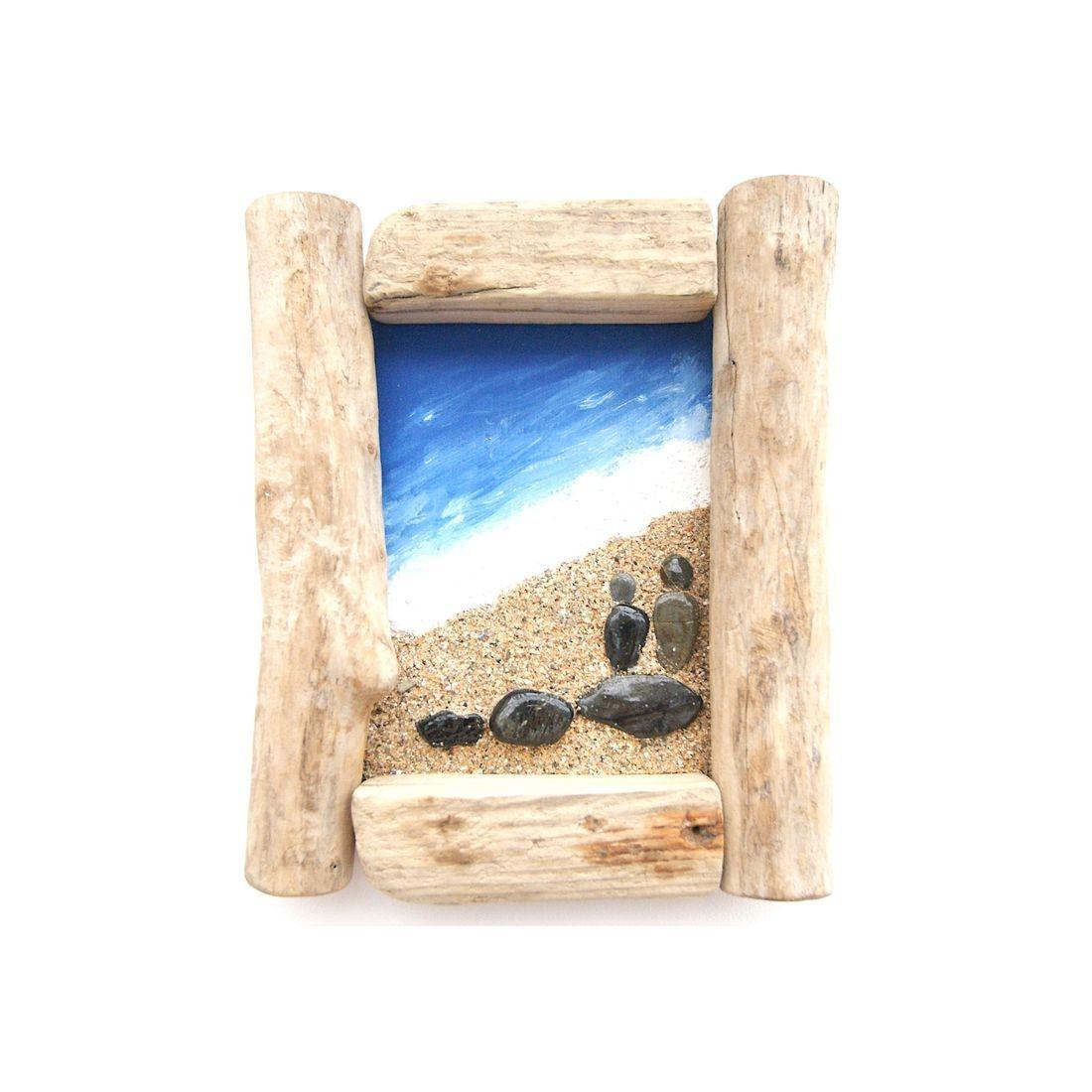 Driftwood stone art 15