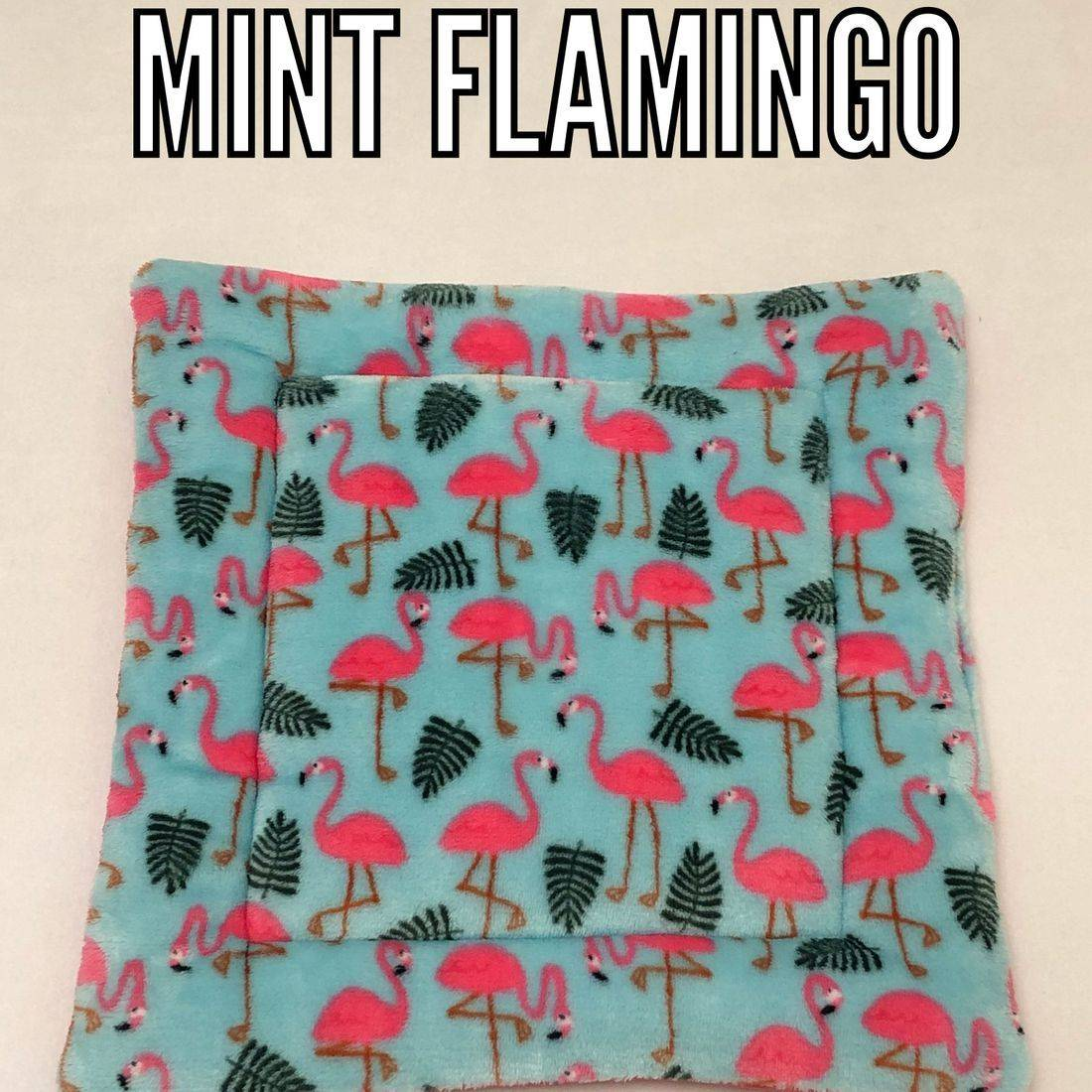 mint Flamingo fabric