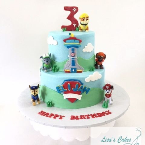 Paw Patrol Lookout Tower Birthday Cake