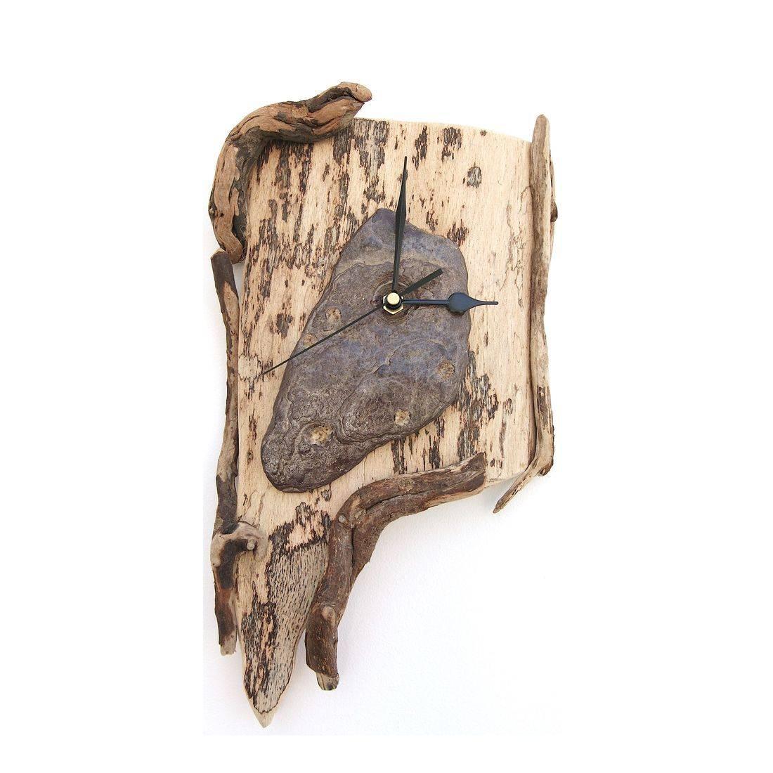 Driftwood Clock 8