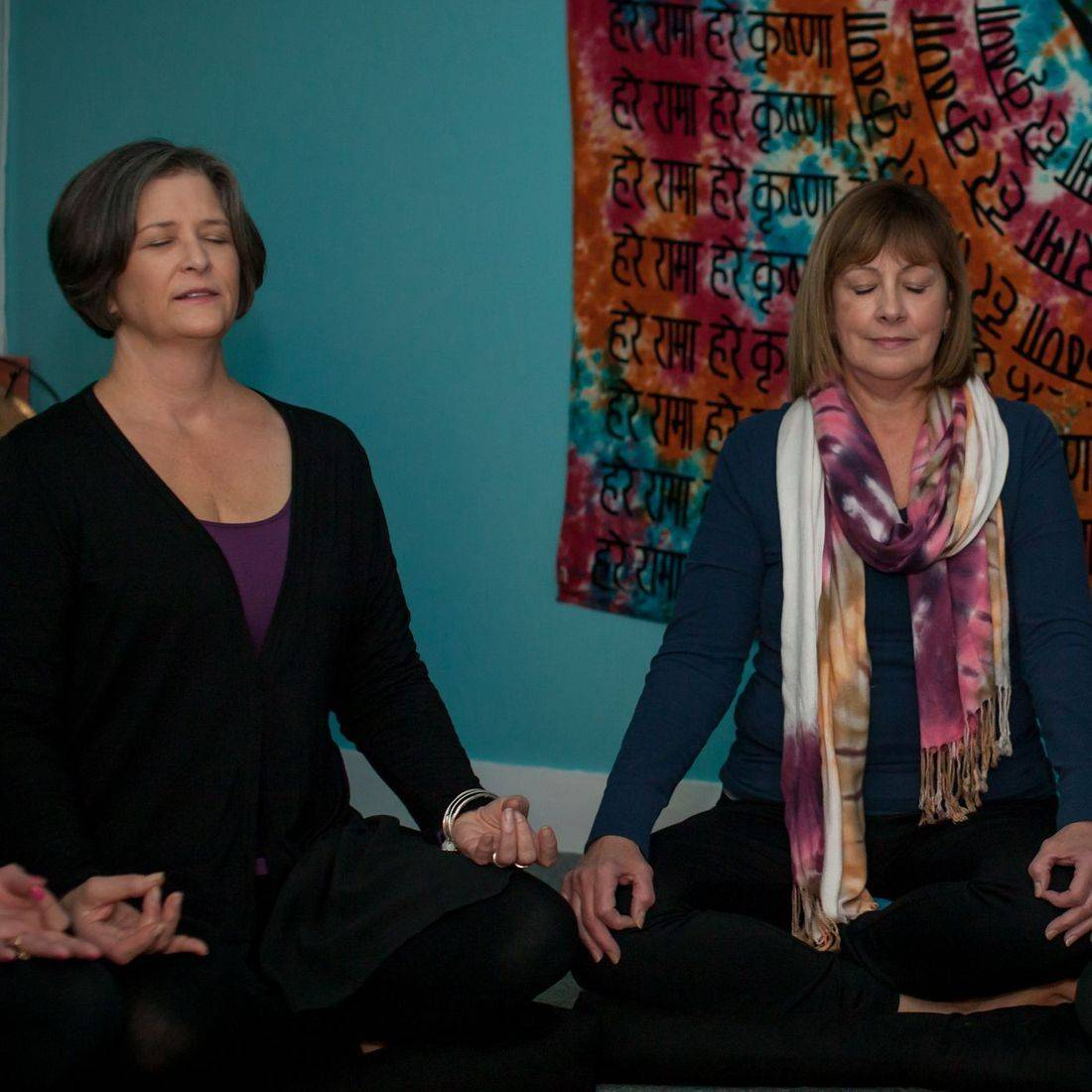 Anni Donlin lead a meditation in the Zen Nook