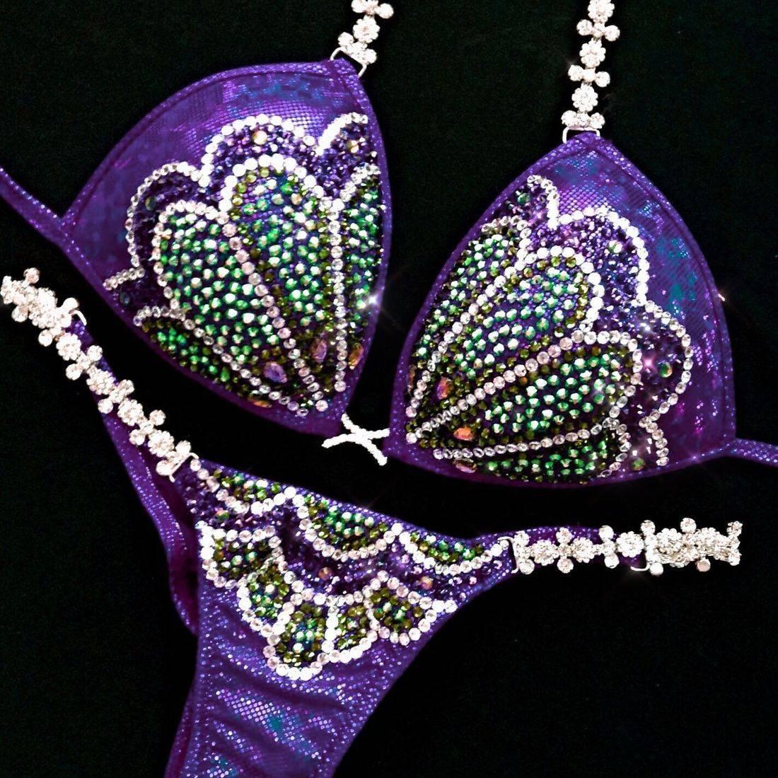 purple  WBFF bikini
