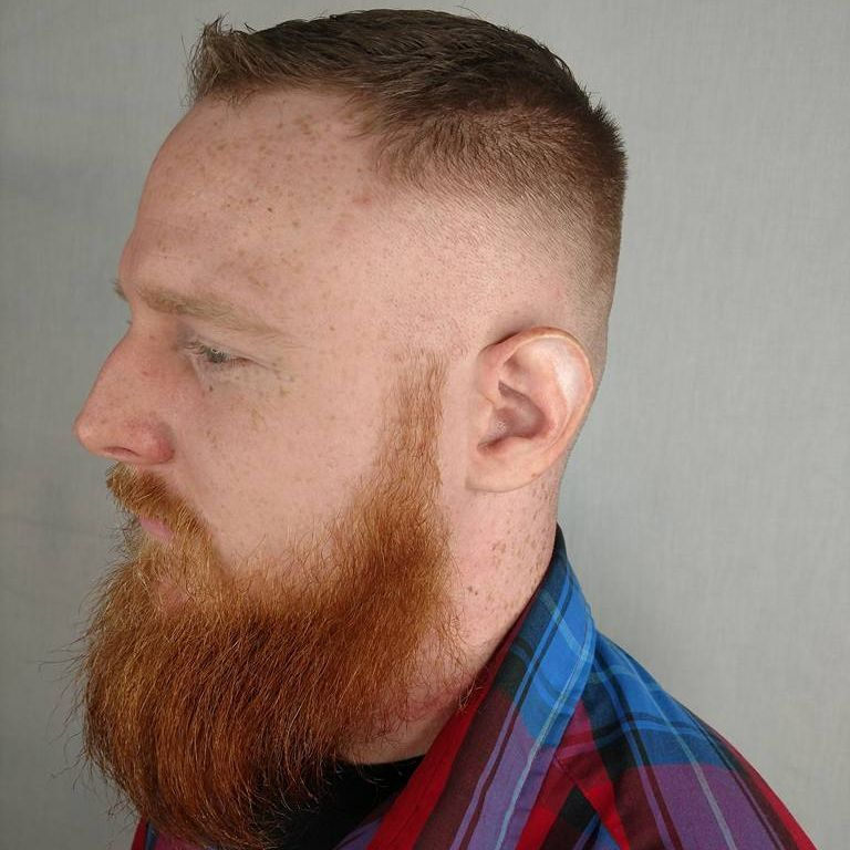 mens fade high and tight clipper cut beardtrim barber