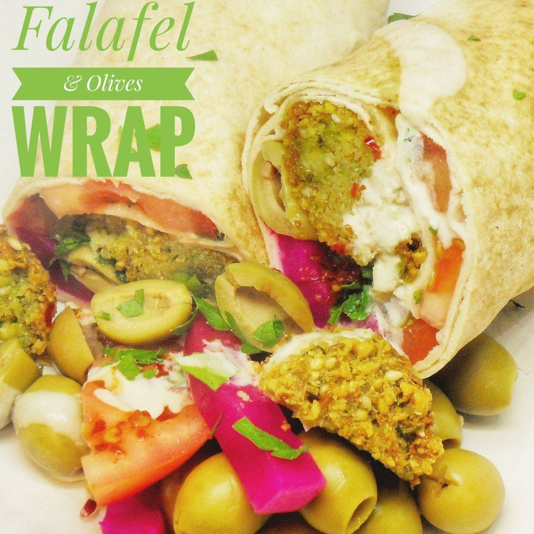 Falafel & Olives Wrap