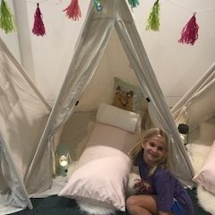 Kids party rentals, teepee rentals, party rentals, kids birthday parties, kids party planner, teepees, indoor camping, Newport Beach, CA, Orange County