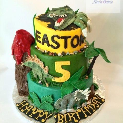 T-Rex Dinosaur Birthday Cake