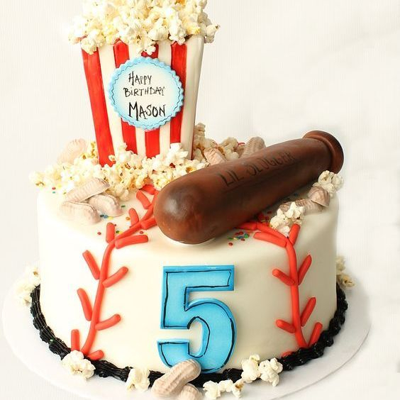 Custom Baseball Birthday Character  Cake Milwaukee