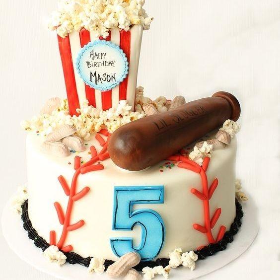 Custom Baseball Birthday Character  Cake Milwaukee