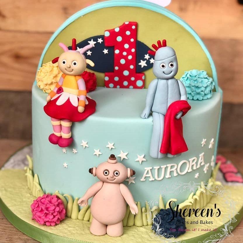 birthday cake night garden nightgarden makka pakka upsy daisy iggle piggle 1st birthday first
