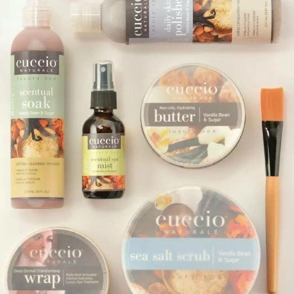 Cuccio products vanilla scent pedicure bury