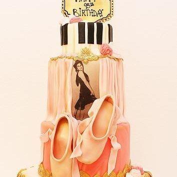 Custom Dancer Ballet Music Cake Milwaukee