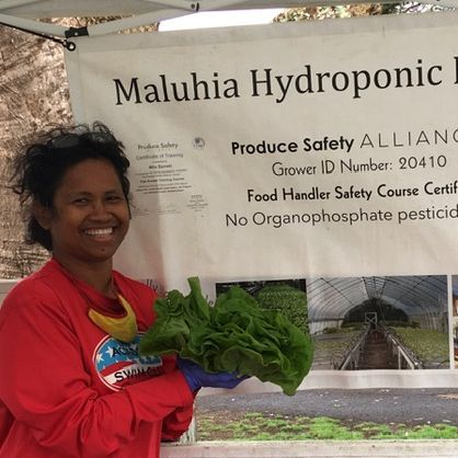 hydroponic farm farmer fresh food pukalani stables