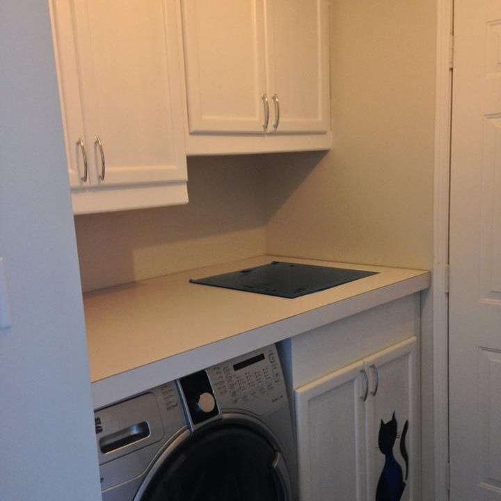 Laundry room cabinetry and work space