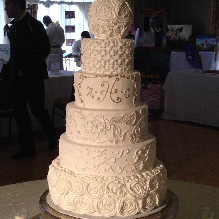 Buttercream Wedding Cake  southern Gold n Chic
