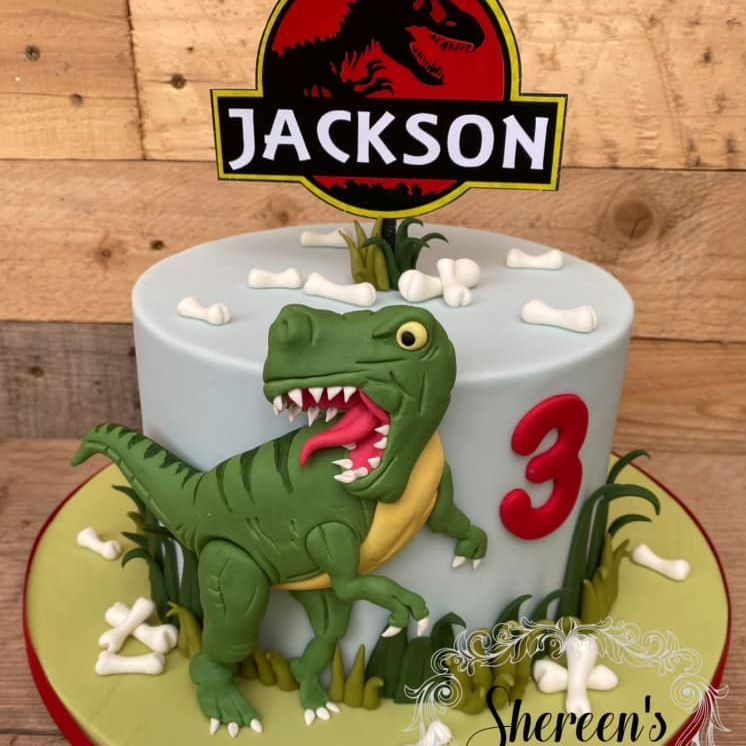 Jurassic Dinosaur T-Rex Birthday Cake