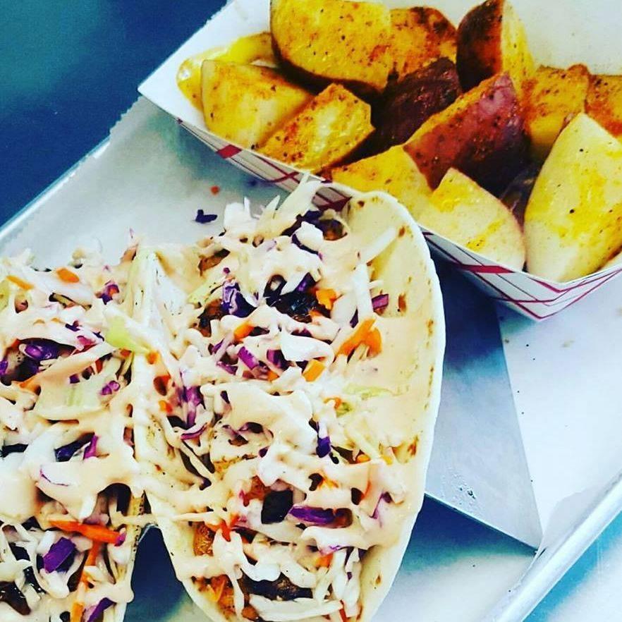 Shrimp Tacos w/ Cajun Red Skin Potatoes