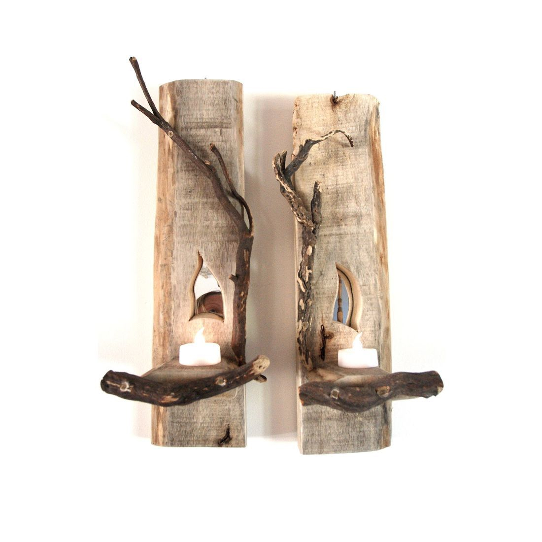 Driftwood Sconce pair 3