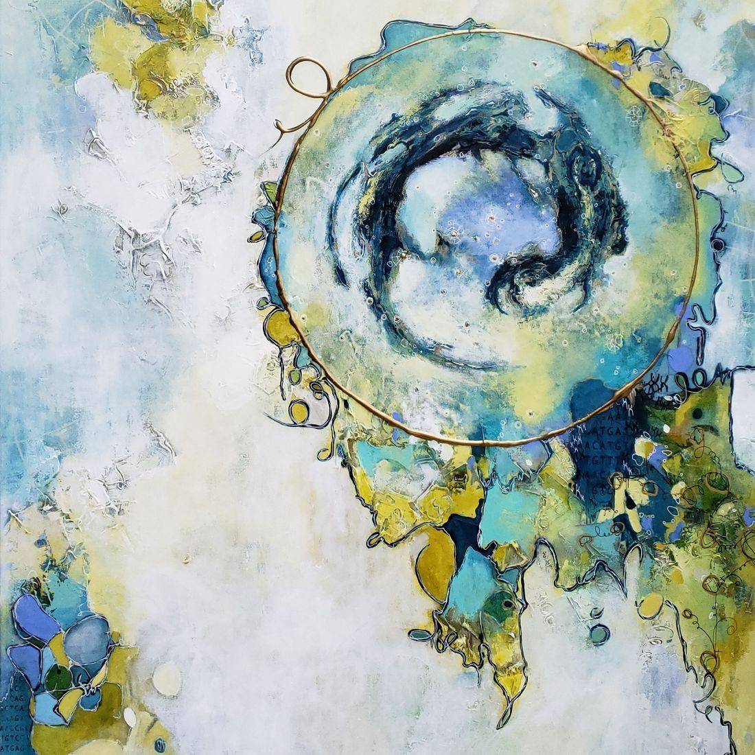 acrylic painting abstract contemporary art space sciart cosmos