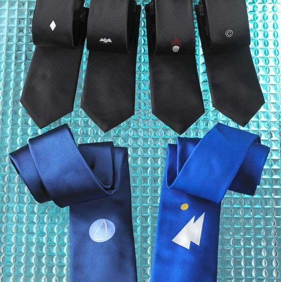 Limited Edition silk ties.