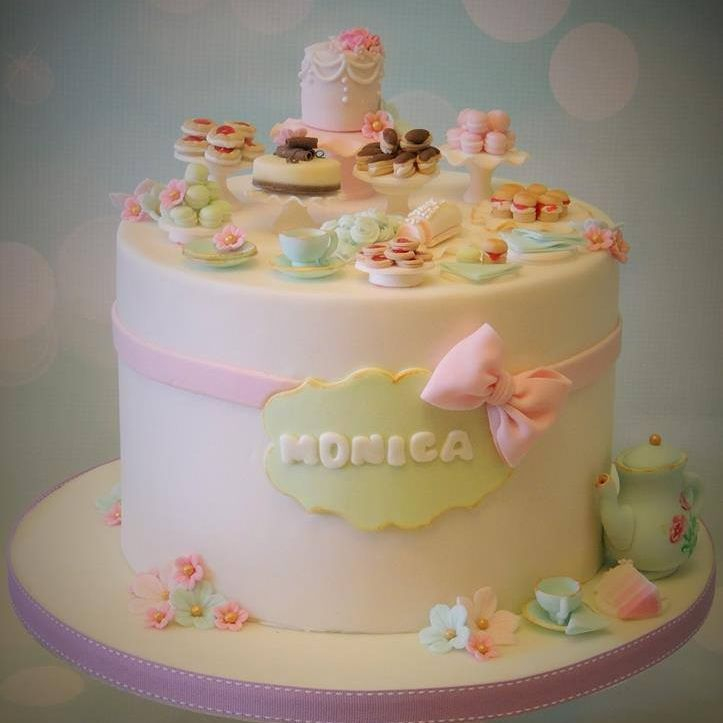 Dessert Tea Party Cake Birthday Novelty Sweet Treats Cake Serviettes