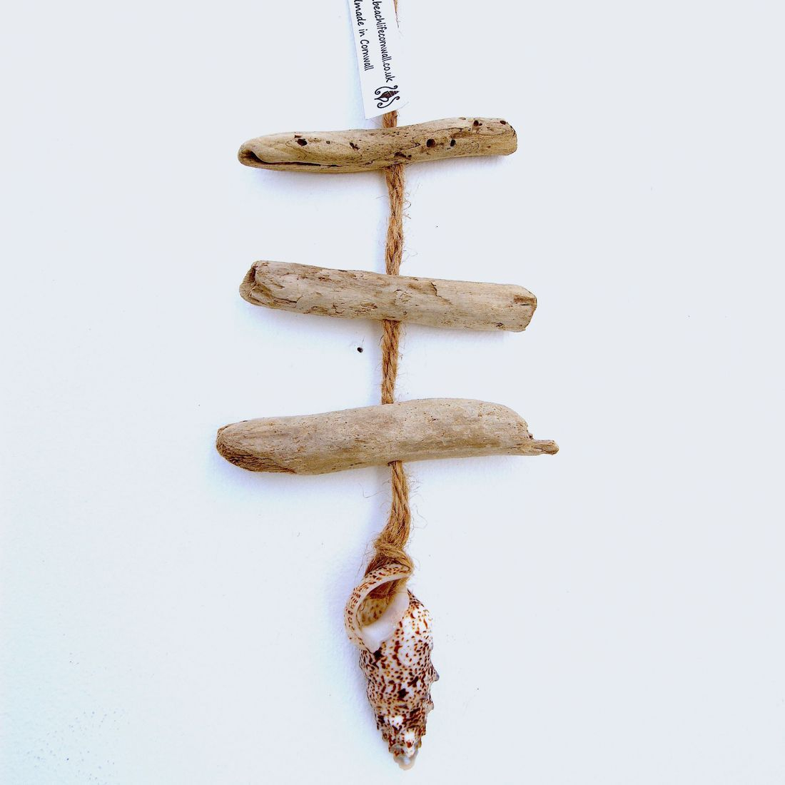 Driftwood and shell mobile 26