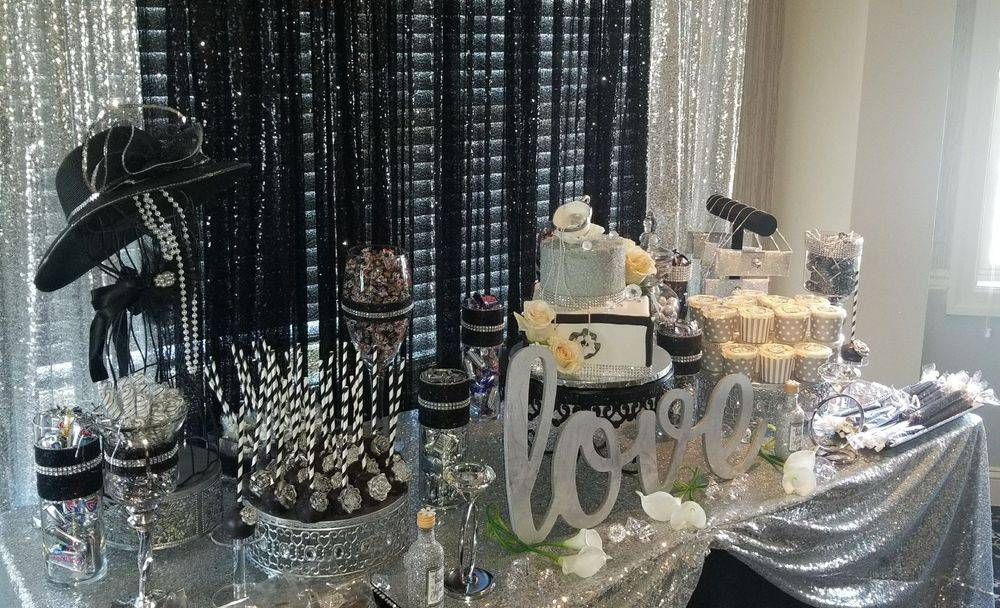 Bridal Shower Candy Buffet or Treats Table