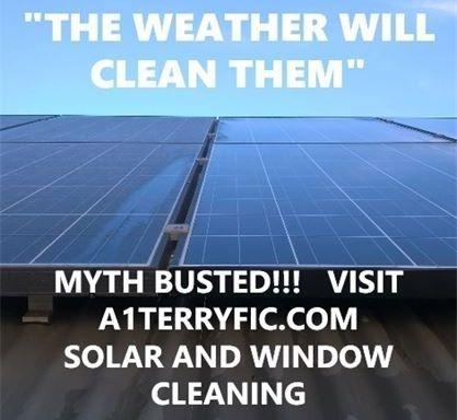 the rain wont clean your solar sytem