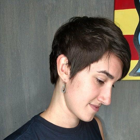 pixie cut fringe short cut