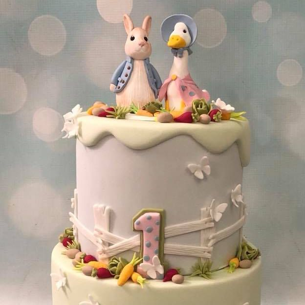 Petter Rabbit Jemima Puddleduck Birthday Cake Novelty Vegetables