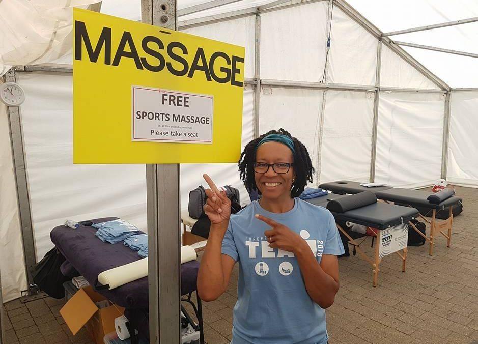 Ironman 2018 Event massage team