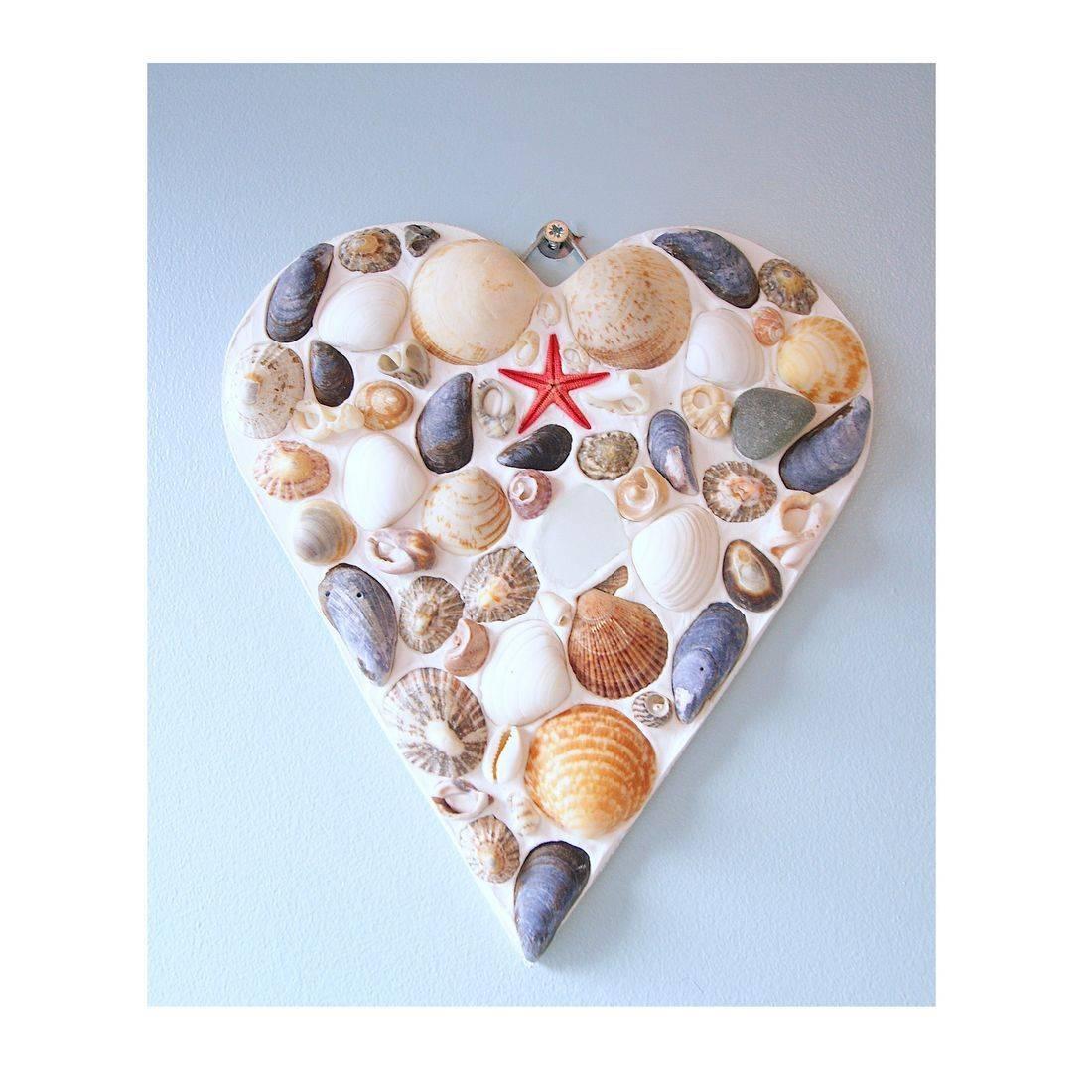 22 Mosaic Shell red starfish heart