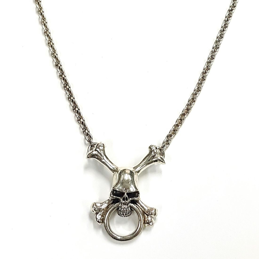 Large Skull & Cross Bones Chain  available at Kazbah online and our Leicester City Centre Shop