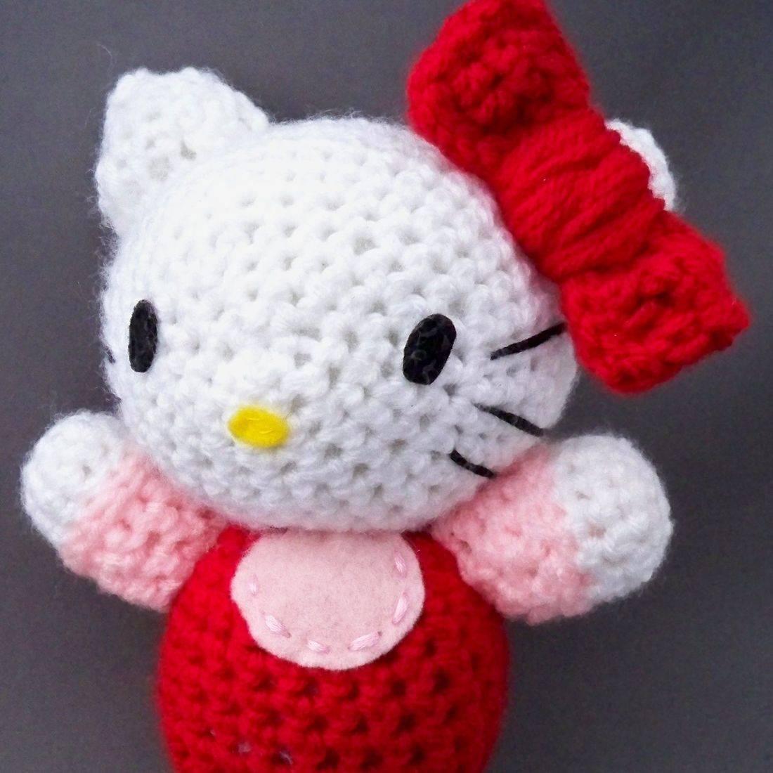 Hello Kitty, HK, Japan, Japanese, feline, anime, otaku, nerd, geek, crochet, amigurumi, plush, doll