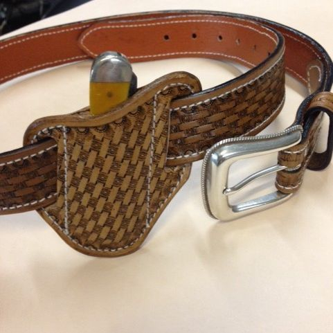 belt , basketweave , tooled belt