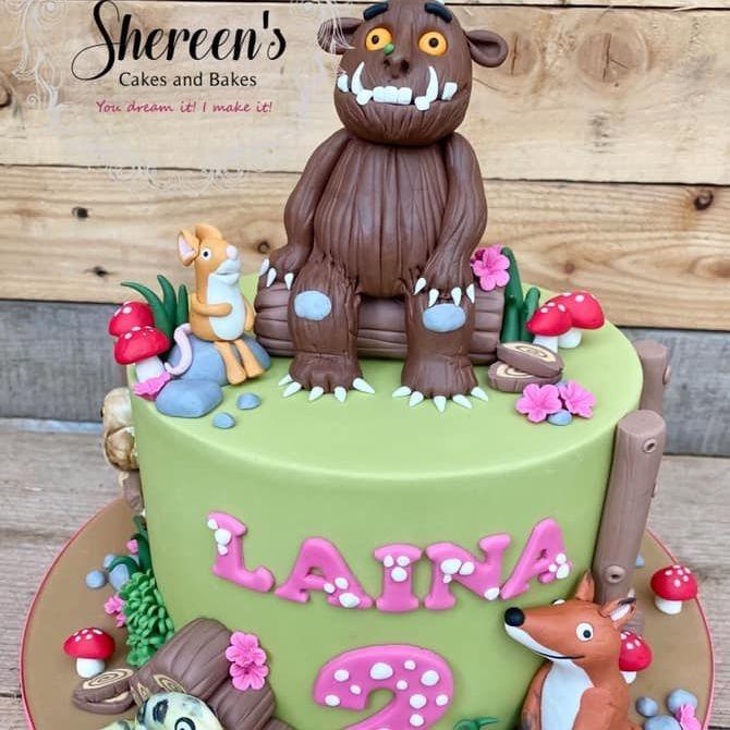 Gruffalo Birthday Cake fox snake mouse forest