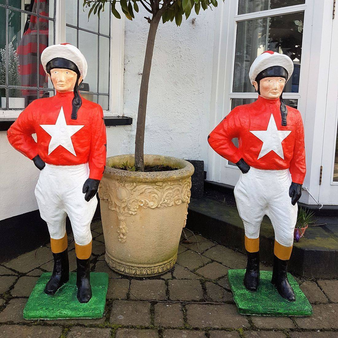lawn jockey black lion