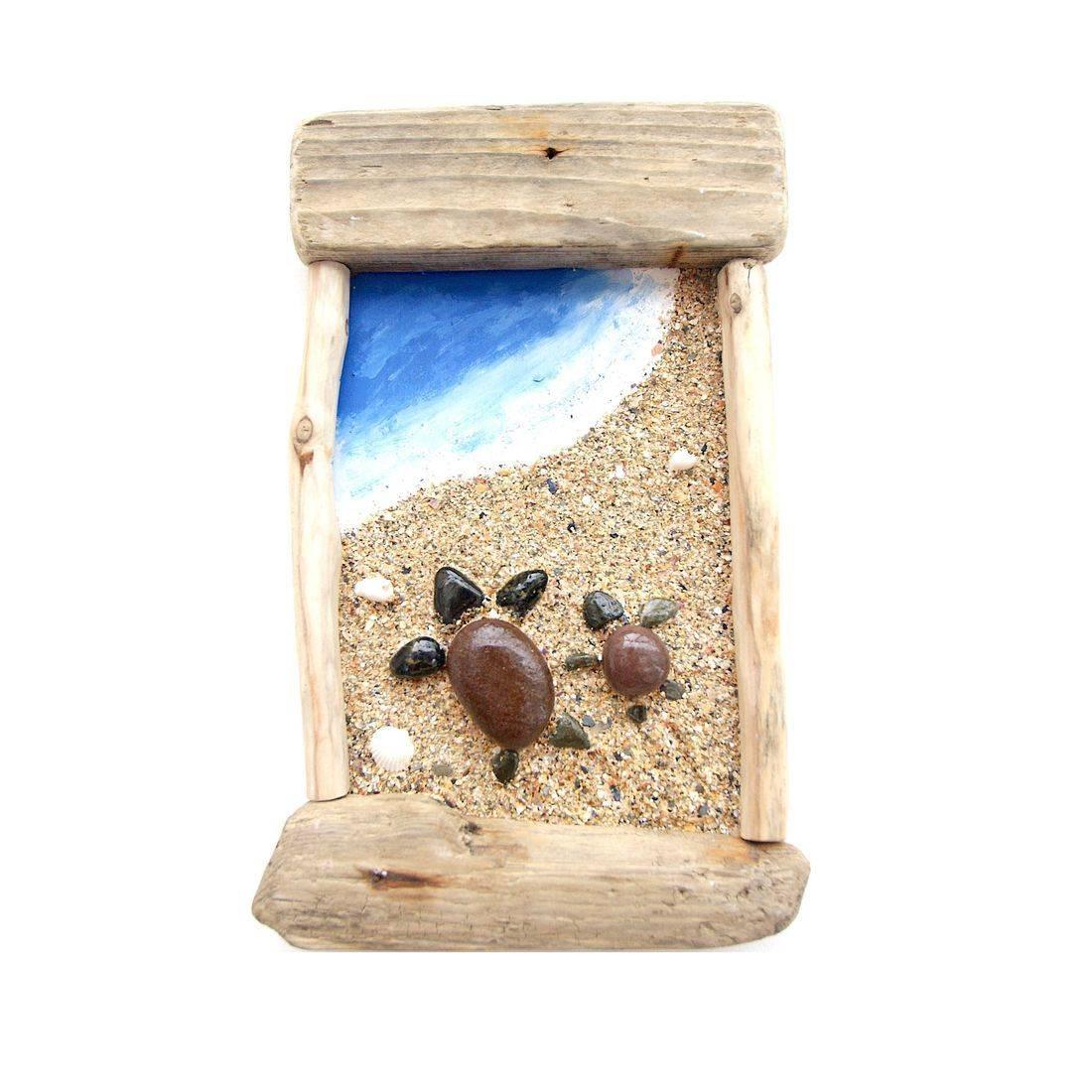 Driftwood stone art 9