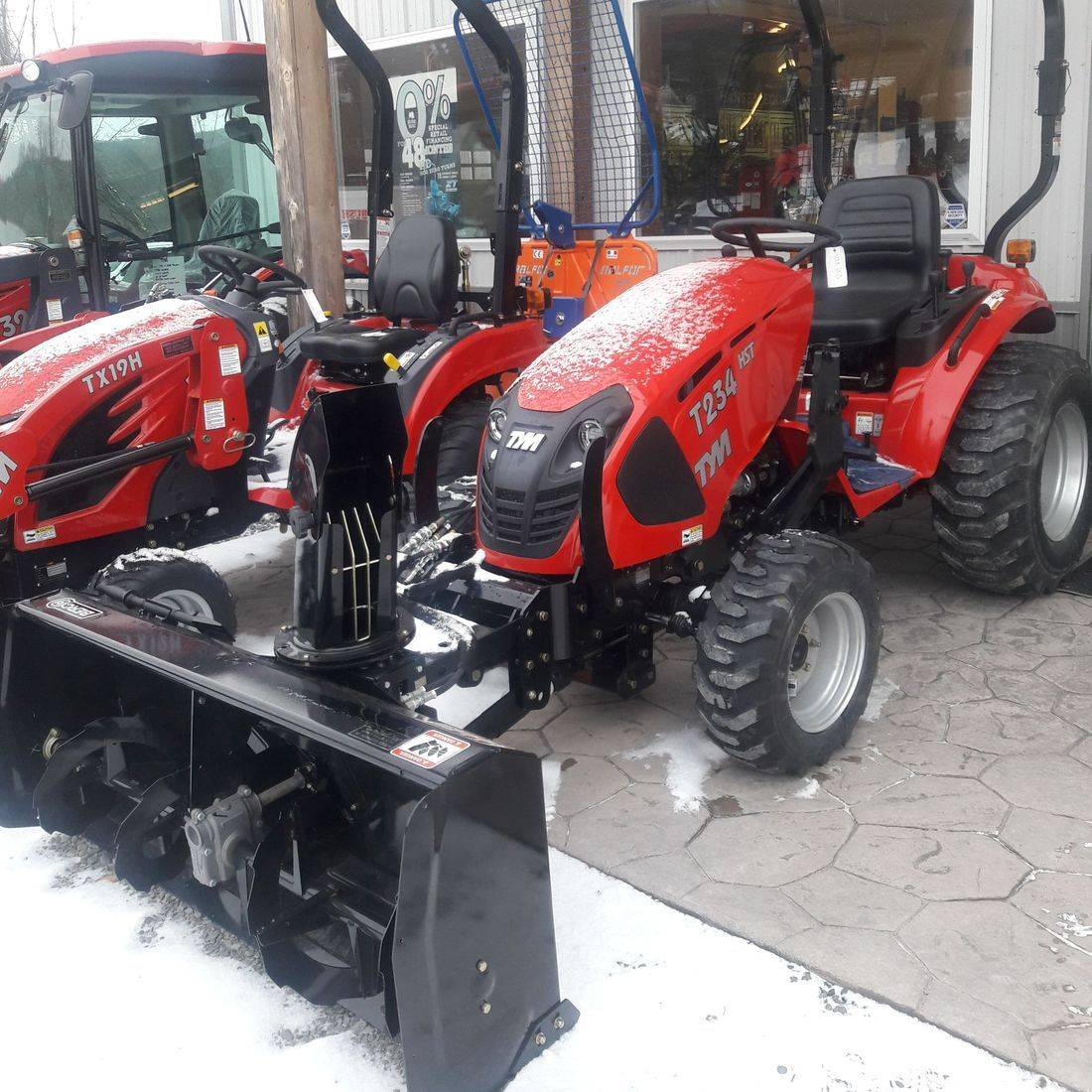 T234 Tractor with Front Mount Snow Blower In Stock