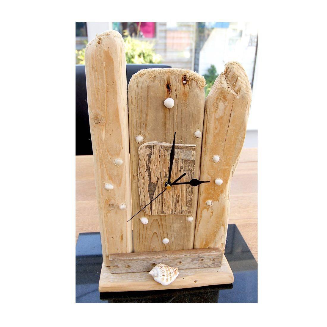 Driftwood Clock mantel 4